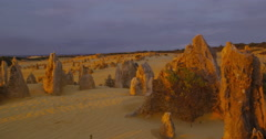 The Pinnacles, remnants of an ancient sea floor, Nambung NP, Western Australia Stock Footage