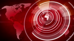 Abstract circle round globe background LOOP 4K red Stock Footage