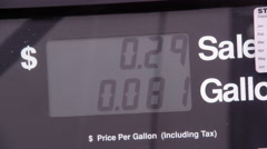Price and fuel meter running during fueling. Starts at zero. Stock Footage
