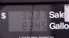Price and fuel meter running during fueling. Stock Footage