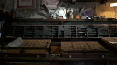 Printing shop at Bled Castle, Bled Stock Footage