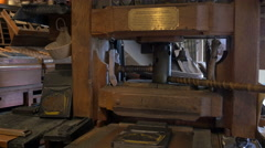 The printing shop of Bled Castle, Bled Stock Footage