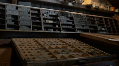 View inside the printing shop of Bled Castle, Bled Stock Footage