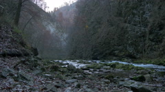View of Radovna River in the Vintgar Gorge, Bled Stock Footage