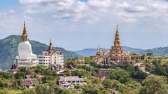 Behind of Phasornkaew Temple ,that place for meditation practices, Khao Kho P Stock Photos