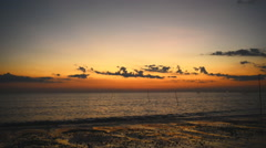 Amazing sky over the tropical beach in evening Stock Footage