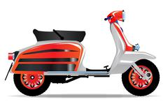 60s Scooter Motorbike Stock Illustration