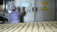 Control of an automated bakery with CNC Stock Footage
