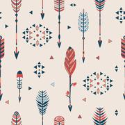 Vector seamless pattern with arrows - stock illustration