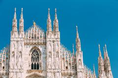 Stock Photo of Milan Cathedral or Duomo di Milano is the cathedral church of Mi