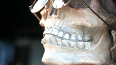 Nodding head skull Stock Footage