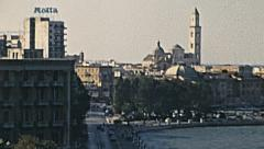 Bari, Italy 1974: the waterfront Stock Footage