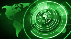 abstract circle round globe background LOOP 4K space green - stock footage