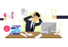 Stressful Condition Icon Flat Isolated Stock Illustration