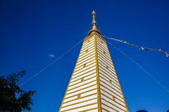 Ubon Ratchathani, Thailand - January 1, 2016 : Thai art in Pagoda at Phrathat - stock photo