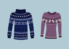 Winter Warm Sweater Handmade, Svitshot, Jumper Stock Illustration