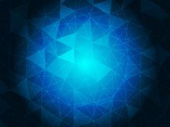 Stock Illustration of Blue crystal background