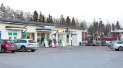 Convenient shop Valintatalo is in province town in Finland Stock Footage