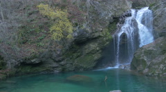 Amazing view of Sum waterfall in Bled - stock footage
