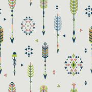 Vector seamless pattern with arrows Stock Illustration