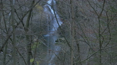 Sum waterfall seen through trees in Bled - stock footage