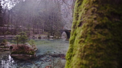 Beautiful natural source of Kamniška Bistrica river in Slovenia 4K Stock Footage