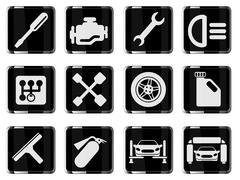 Auto Service Icons Stock Illustration