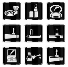 make-up products chrom icons - stock illustration