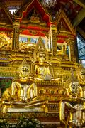 Ubon Ratchathani, Thailand - January 1, 2016 : Thai art in Pagoda at Phrathat Stock Photos