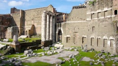 Forum of Augustus, Rome, Italy Stock Footage