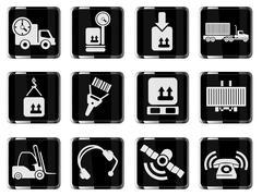Logistics icons - stock illustration