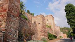 Malaga Alcazaba Time-Lapse  Stock Footage
