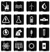 Power generation simply icons Stock Illustration