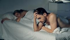 Relationship Problems Causing Insomnia Stock Footage