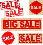 Assorted Vector Sale Big Sale Promotional Elements - stock illustration