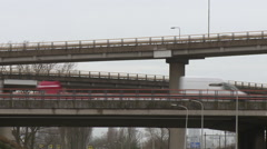 Prins Claus Plein traffic lanes flyover Stock Footage