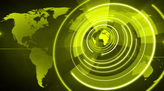 abstract circle round globe background LOOP 4K yellow - stock footage