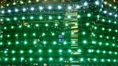 Fancy lights on display Stock Footage