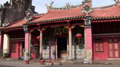 The temple of Kuan Im Teng in Penang Stock Footage