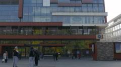 Tilt view of BBI centar on Trg djece Sarajeva, Sarajevo Stock Footage