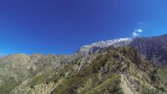 Panorama of the mountain valley, Chatkal Mountain (Greater Chimgan), Uzbekistan - stock footage