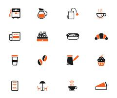 Cafe simply icons - stock illustration