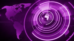 abstract circle round globe background LOOP 4K purple - stock footage