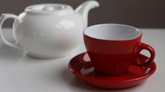 BREW tea for breakfast - stock footage