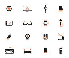Gadgets simply icons Stock Illustration