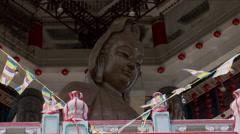 Giant statue outside the Kek Lok Si Temple Stock Footage