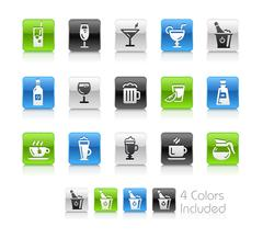 Drinks Icons -- Clean Series - stock illustration