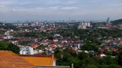 View of Penang, Malaysia Stock Footage