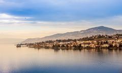Beautiful view on Geneva Lake and Montreux Kuvituskuvat