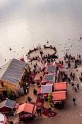 view on Montreux street fair - stock photo